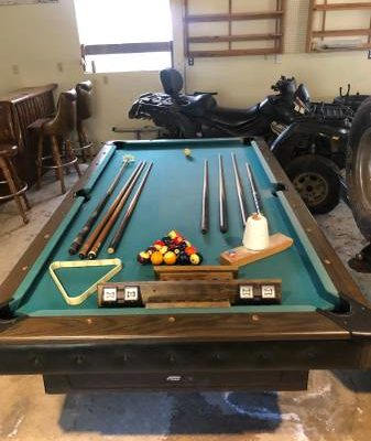 Pool table and Bar (SOLD)