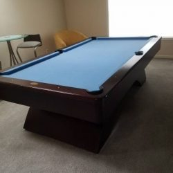 Blue Felt Pool Table